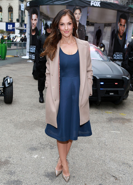 Actress Minka Kelly attends FOX's 'Almost Human-hattan' experience at Herald Square on October 30, 2013 in New York City.