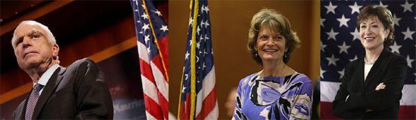 Senators John McCain, Lisa Murkowski and Susan Collins are traitors to the GOP, heroes to the American people!