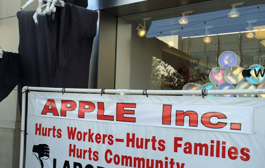 Labor Union Tries To Put the Bite On Apple | CUE, Inc.