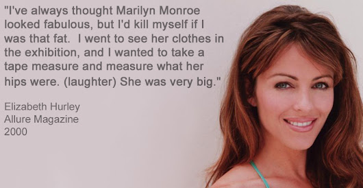 Marilyn Monroe's True Size. Her clothing tells the truth.
