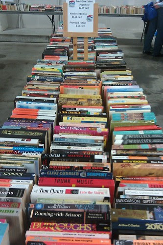 Book sale: paperback fiction