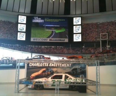 Video Cube Wall at Nascar Hall of Fame