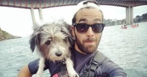 Street Dog Sails With Sailor Dad, Rescues Abandoned Newborn Kitten