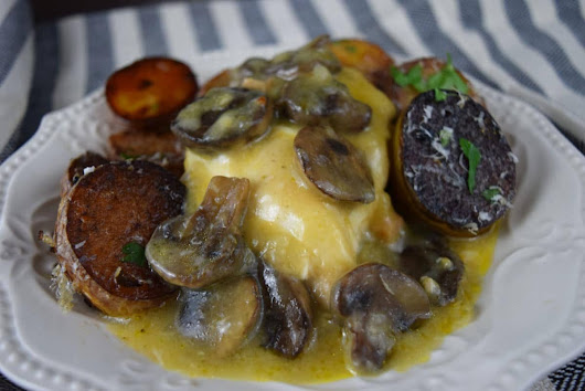 Crock Pot Muenster and Mushroom Chicken - Soulfully Made