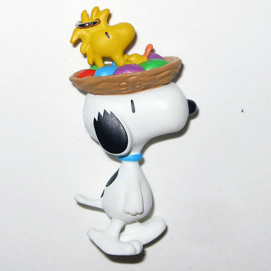 Snoopy with Woodstock in nest Easter Ornament