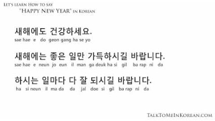 learn korean school related words new years greeting translation