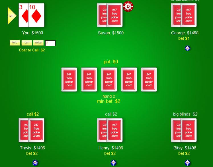 Screenshot, Review, Downloads of Freeware Free Poker Texas