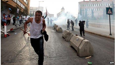 Protesto em Beirute, Líbano (21 Out 2012)