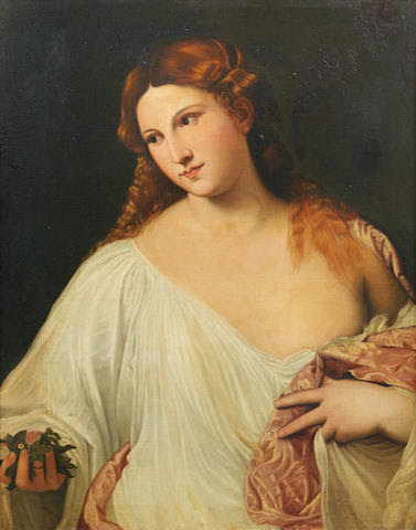 After Tiziano Vecellio, called Titian, 19th Century Flora
