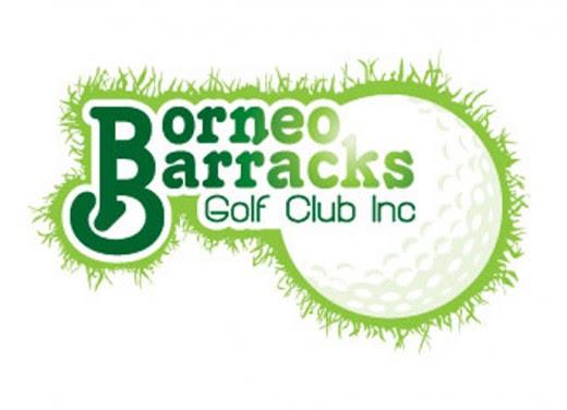 Borneo Barracks is a golf logo design