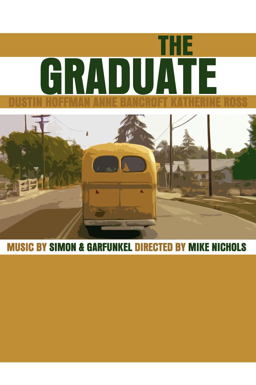 The Graduate Movie Poster (Paper or Plexiglas or Canvas)