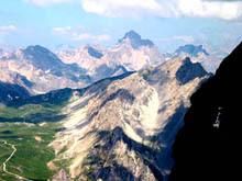 Veduta da una cima
