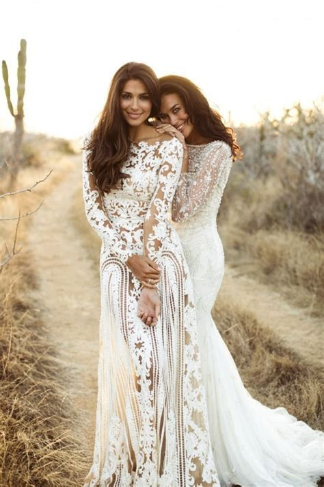 Boho Nude Lace Wedding Gown · TheDarkQueen · Online Store