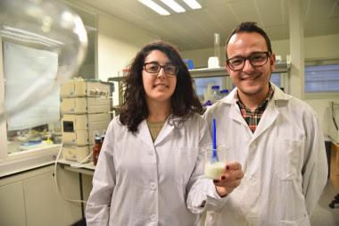 <p>La clave de este trabajo reside en la encapsulación de la vitamina en micropartículas de óxido de silicio</p>