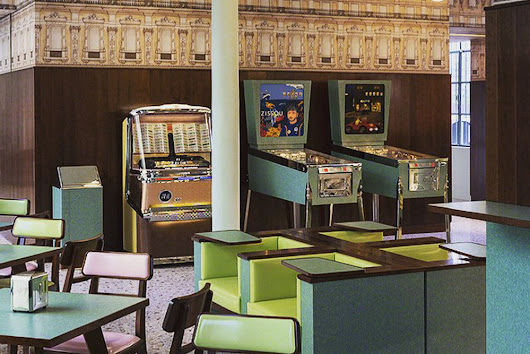 Wes Anderson Designed a Bar With a Life Aquatic Pinball Machine