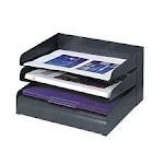 Safco Products Company SAF3129BL Steel Desk Tray Sorter- 8-Tier- Letter-Size- Black