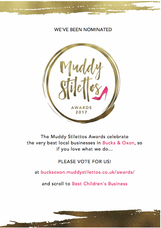 Thumbsie® voted Best Children's Business in Muddy Stilettos Awards 2017 - Thumbsie®