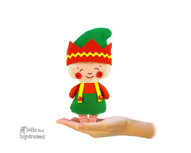 Elf Sewing Pattern Christmas Santa helper softie doll copy