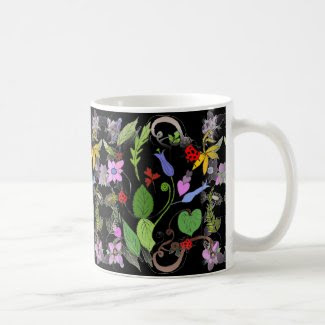 Spring Floral Design on Coffee/Tea Mug