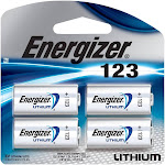 Energizer EL123BP-4 Photo Lithium Universal Battery - 4 pack