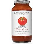 Daves Gourmet Pasta Sauce, Organic, Red Heirloom - 25.5 oz