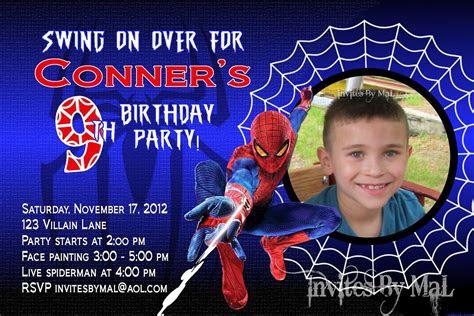 invitation template spiderman