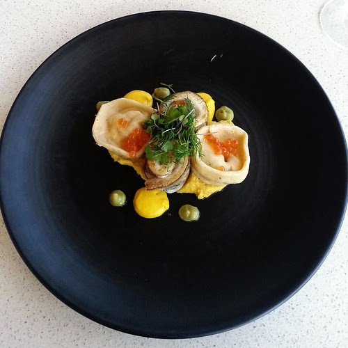 Whiting and salmon tortellini