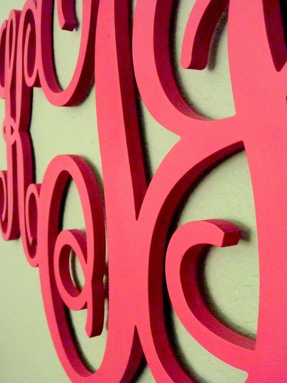 UNFINISHED 18 Wood Monogram Custom Wall Decor by PinwheelFair