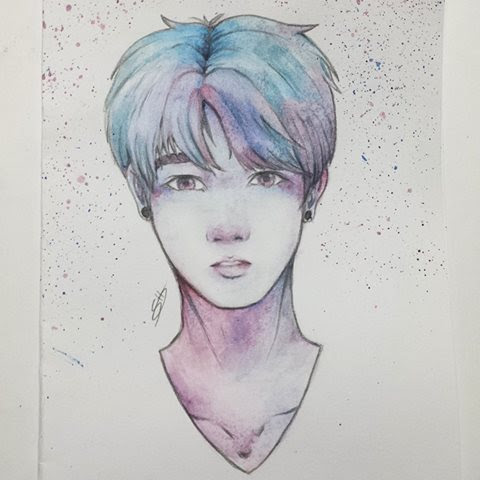 Bts Watercolor At Getdrawings Com Free For Personal Use Bts