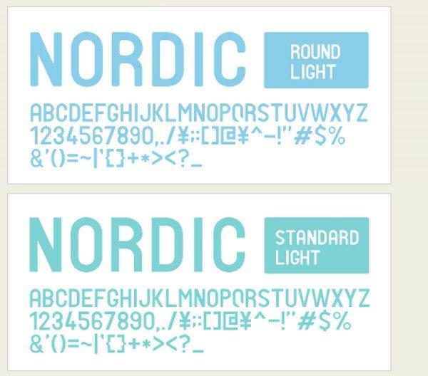 Nordic free font +10 Tipografías elegantes y gratuitas   Parte III
