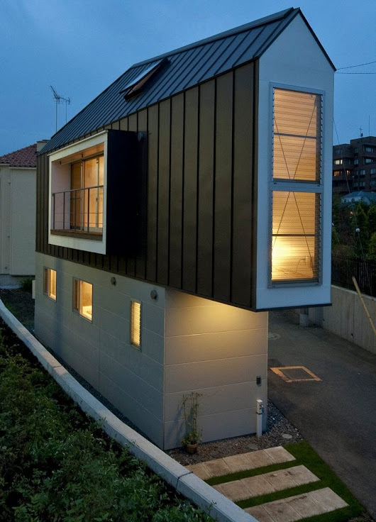 This Narrow House In Japan Has More Space Inside Than It Looks > FREEYORK