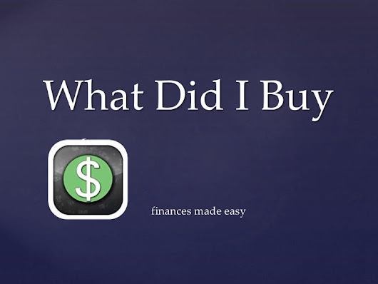 What Did I Buy - Easy Modern Finance