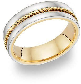 14K Two Tone Gold Rope Design Wedding Band Ring Jewelry