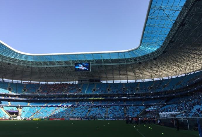 Arena do Grêmio antes do Gre-Nal (Foto: Diego Guichard/GloboEsporte.com)