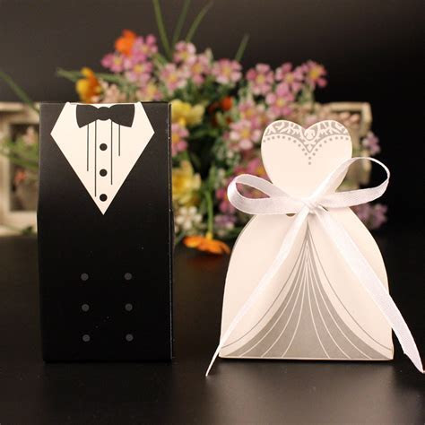 New 50 Pcs Laser Cut Candy Boxes Bags Bridal Groom Gift