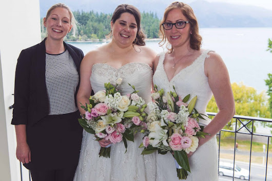 """The ceremony was very 'us' and there wasn't a dry eye in the house!"" - Your Big Day - Charlotte Winkel Queenstown Wedding Celebrant"