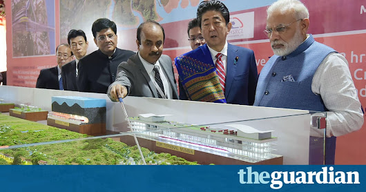 India starts work on bullet train line with £12bn loan from Japan — the guardian