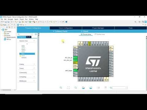 STM32 simulation in proteus with stm32cubeide - Led Blink tutorial
