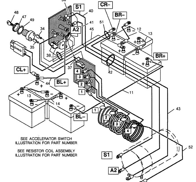 1989 Ezgo Marathon Golf Cart Wiring Diagram