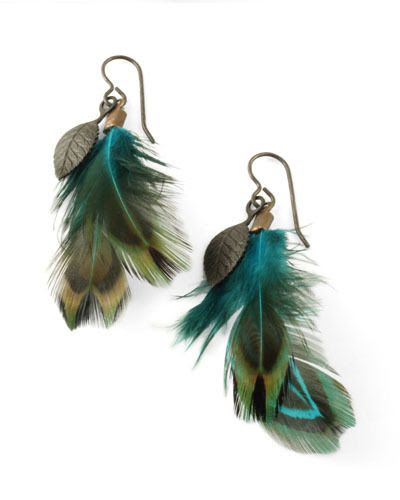 DIY Feather Earrings {tutorial}