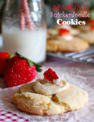 Almond Snickerdoodle Cookies