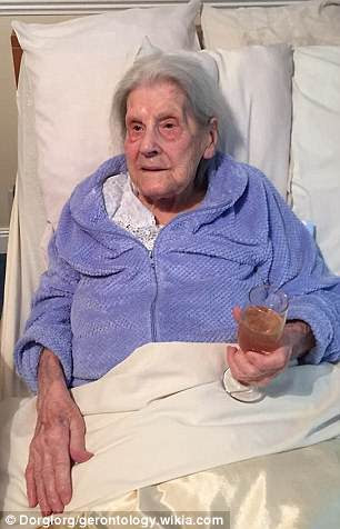 Bessie Camm, 113, of Rotherham, was officially crowned the oldest Briton in 2016