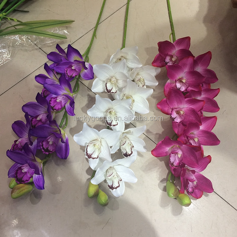 Latest Design Long Stem Hanging Artificial Orchid Flower