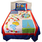 Playtime Interactive Twin Bed Sheet Set - Blue