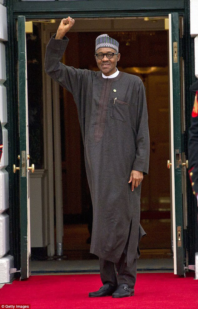 Image result for president buhari walking away