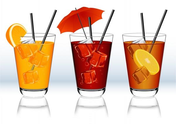 素材 ソフトドリンクのクリップアート Beverage Clip Art