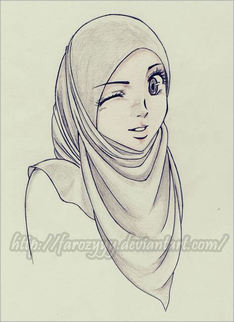 hijab art images  pinterest hijab cartoon