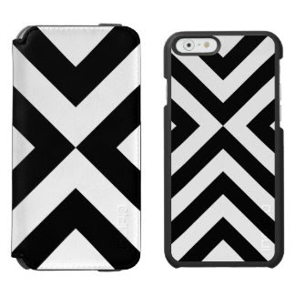 Black and White Chevrons Pattern Incipio Watson™ iPhone 6 Wallet Case