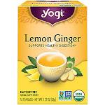 Yogi Tea - Lemon Ginger Tea - Caffeine Free (16 Bag) - Misc Herbal Teas