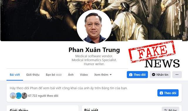 Cảnh giác Fb Phan Xuân Trung và những thông tin phá hoại công tác phòng chống covid-19